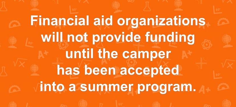 Camp financial aid